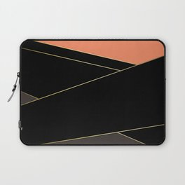 Angelica . Coral , black , brown Laptop Sleeve