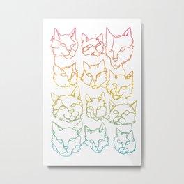 Contour Cats Metal Print