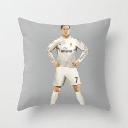Ronaldo 7 - Football Free Kick Throw Pillow