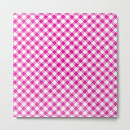 Summer Plaid 15 Metal Print