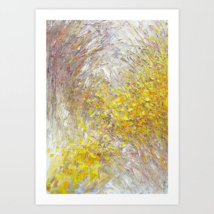 """Forsythia Trail"" Art Print"