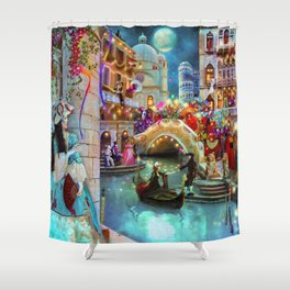 Carnival Moon Shower Curtain