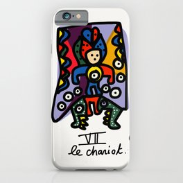 Le Chariot Tarot Card Street Art Illustration iPhone Case