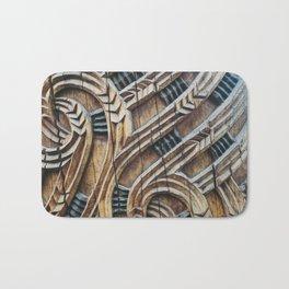 A Maori Carving Bath Mat