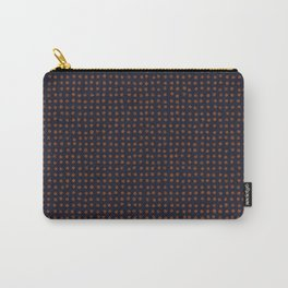 Navy & Rust VII Soft Pastel Rust Dots Carry-All Pouch