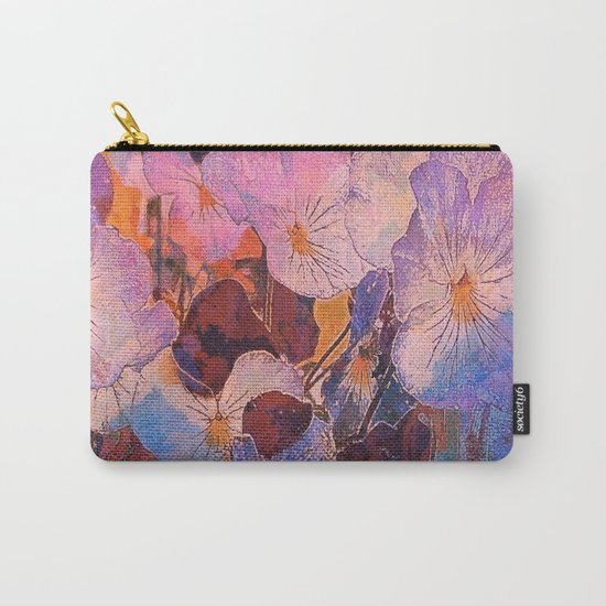 Pansies at Twilight Carry-All Pouch