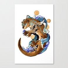 Otter Okami Canvas Print