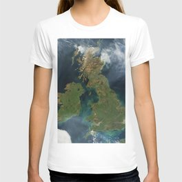 Nearly cloud-free view of Great Britain and Ireland was acquired by the Moderate Resolution Imaging T-shirt