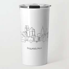 Philadelphia Skyline Drawing Travel Mug