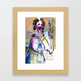 Dale de comer al conejito Framed Art Print