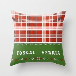 EUSKAL HERRIA lauburu Throw Pillow