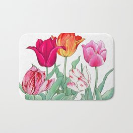Tulips garden Bath Mat