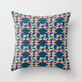 Colorful Galaxy Geometric Origami Throw Pillow