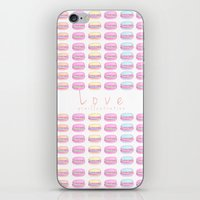 macaroon iPhone & iPod Skins featuring Love Macaroon by Praillustration