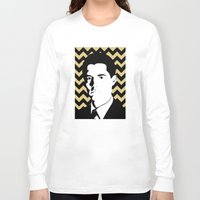 dale cooper Long Sleeve T-shirts featuring Special Agent Dale Cooper by TwO Owls