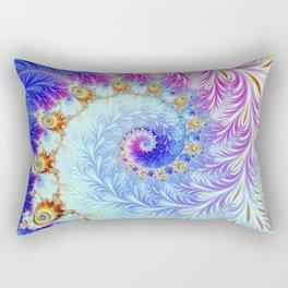 Pink Ice Spiral Fractal Rectangular Pillow
