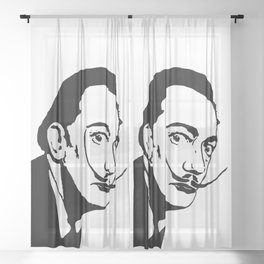 THE GREAT SPANISH SURREALIST SALVADOR THE FAMOUS ARTIST Sheer Curtain