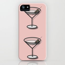 Martinis on Pink iPhone Case