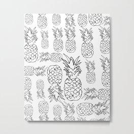 pineapple pattern (white background) Metal Print