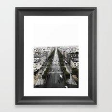The Avenue des Champs-Elysees Framed Art Print
