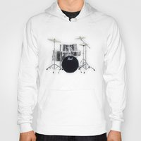 drums Hoodies featuring Pearl Drums  by good music