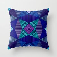 tapestry Throw Pillows featuring Tapestry  by Truly Juel