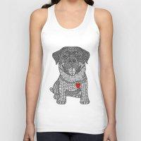 rottweiler Tank Tops featuring Courageous Heart- Rottweiler by DiAnne Ferrer