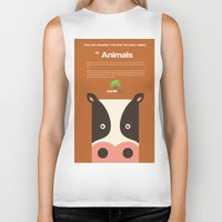 cows Biker Tanks featuring Save Cows by Earth Day