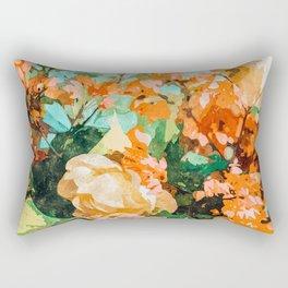 Blush Garden #painting #nature #floral Rectangular Pillow