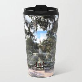 Crisp morning in Forsyth Park, cropped Travel Mug