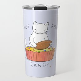Almond Candy Cat Travel Mug