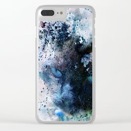 Behind Blue Eyes Clear iPhone Case