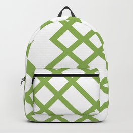 Green Tracery Geometric Pattern Backpack