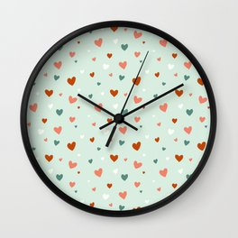 Valentines Hearts Wall Clock