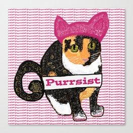 Purrsist Kitty Canvas Print