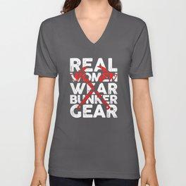 Real Firefighter Bunker Equipment Shirt Unisex V-Neck