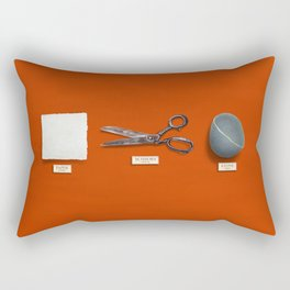 Paper, Scissors, Stone Rectangular Pillow