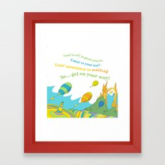 Oh the places you'll go special custom colors  Framed Art Print