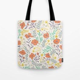 Colorful Peonies Tote Bag