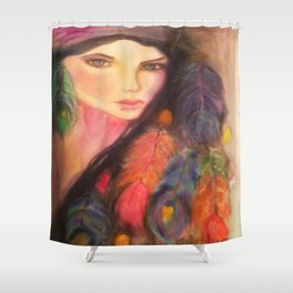 Gypsy Watercolor Shower Curtain