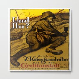 Vintage poster - Austrian War Bonds Metal Print