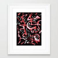 calligraphy Framed Art Prints featuring calligraphy by Martha Calderon