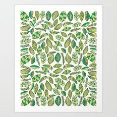 Tropical Jungle Leaves Art Print