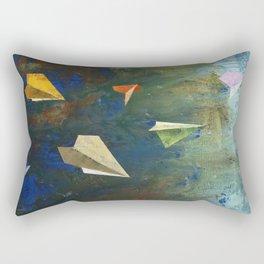 Paper Airplanes Rectangular Pillow