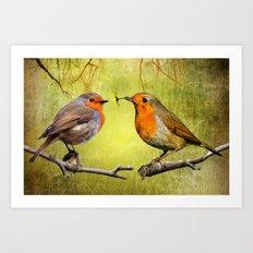 Robin Presents Art Print