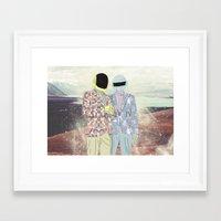 daft punk Framed Art Prints featuring Daft Punk. by Lucas Eme A