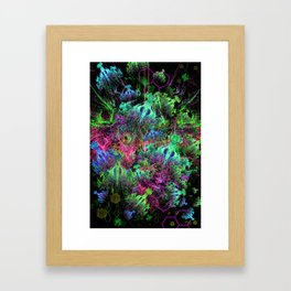 Alien Dragonfly Orchid Colony Framed Art Print