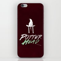 potter iPhone & iPod Skins featuring Potter Head by alboradas