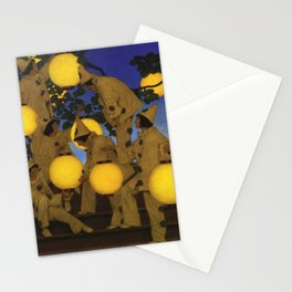 The Lantern Bearers by Maxfield Parrish Stationery Cards