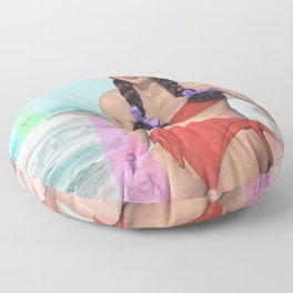 Abductions on the Beach Floor Pillow